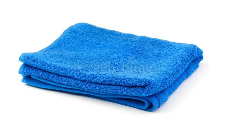 Handdoek die op wit wordt geïsoleerds royalty-vrije stock foto