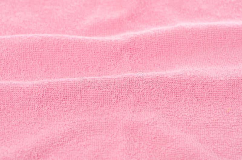 Handdoek macroroze royalty-vrije stock afbeeldingen