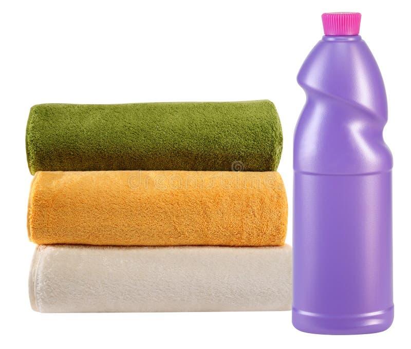 Handdoeken. Geïsoleerd. stock fotografie