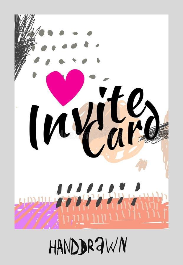 Handdraw card vector illustration