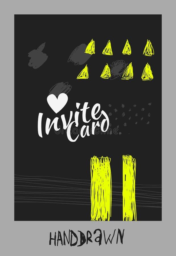 Handdraw card royalty free illustration