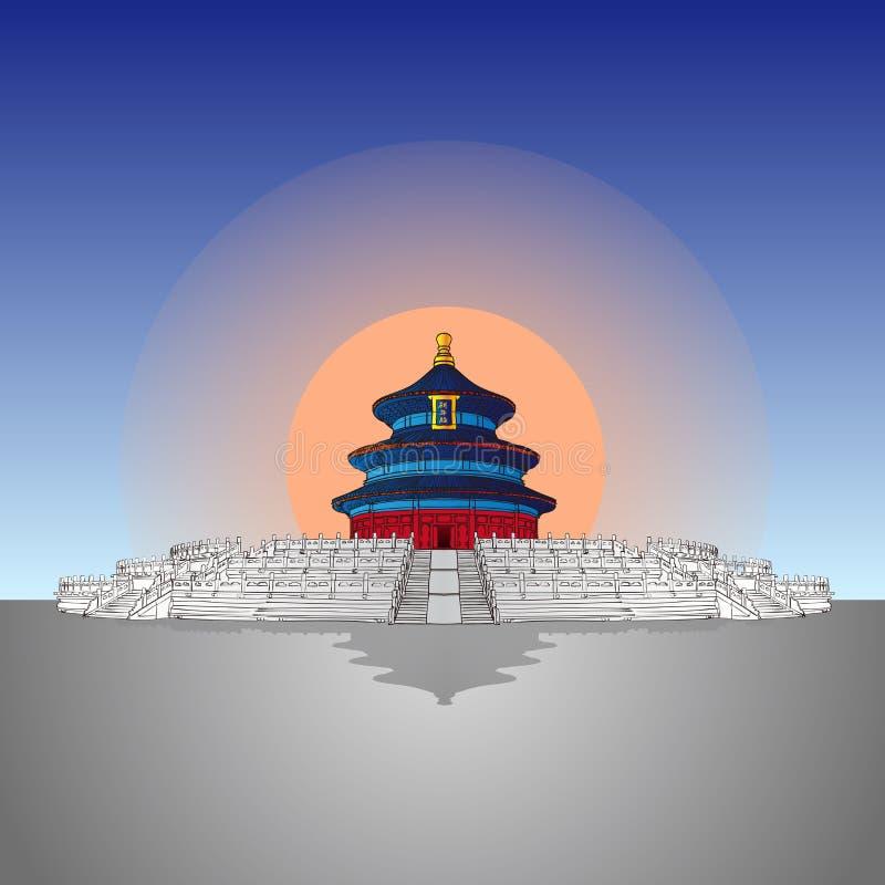 Handdraw Tiantan иллюстрация штока