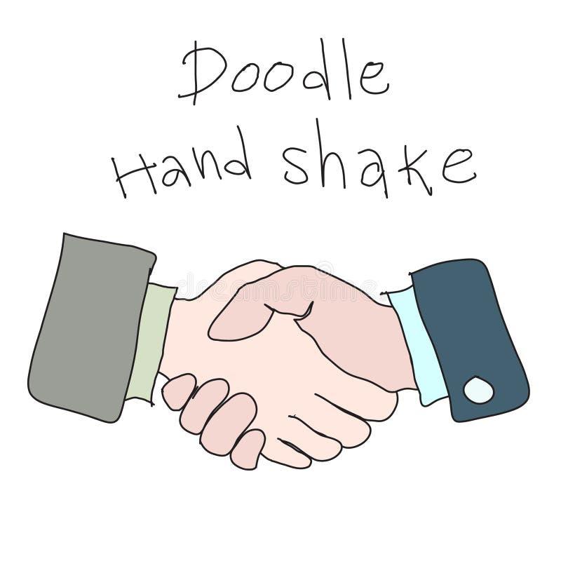 Handdrawn απλή έννοια σκίτσων κουνημάτων χεριών Doodle business ag διανυσματική απεικόνιση