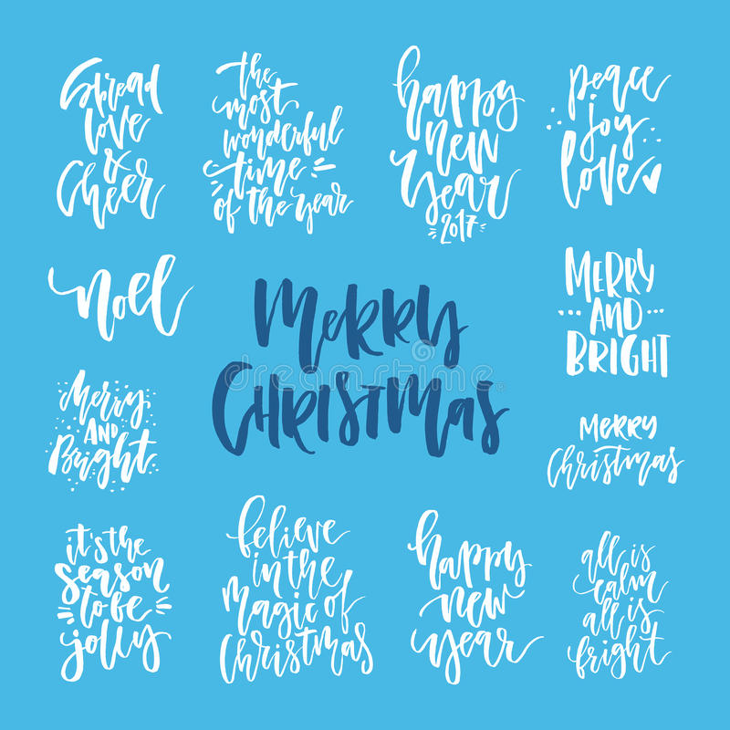 Handdrawn εγγραφή Χριστουγέννων ελεύθερη απεικόνιση δικαιώματος
