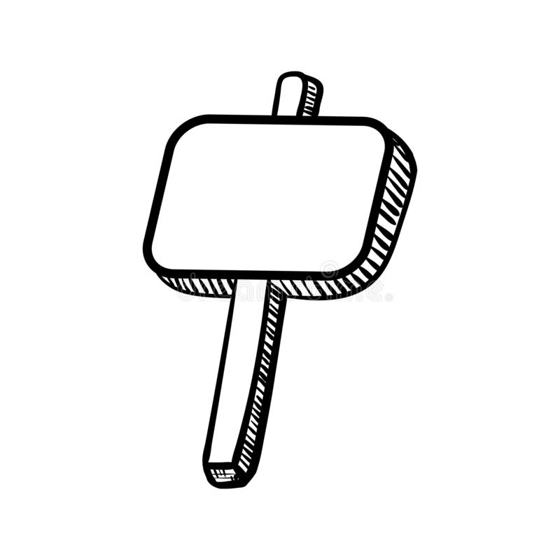 Handdrawn εικονίδιο πινάκων διαφημίσεων doodle Συρμένο χέρι μαύρο σκίτσο Σημάδι S ελεύθερη απεικόνιση δικαιώματος