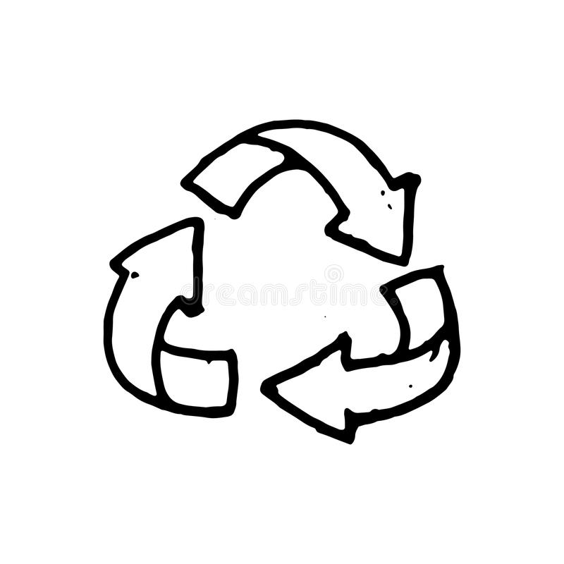 Handdrawn значок стрелок doodle E Si иллюстрация штока