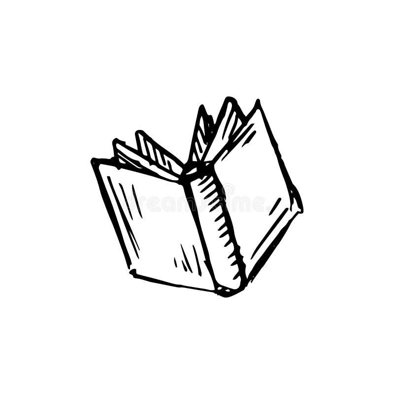 Handdrawn значок doodle книги Эскиз нарисованный рукой черный символ знака иллюстрация вектора