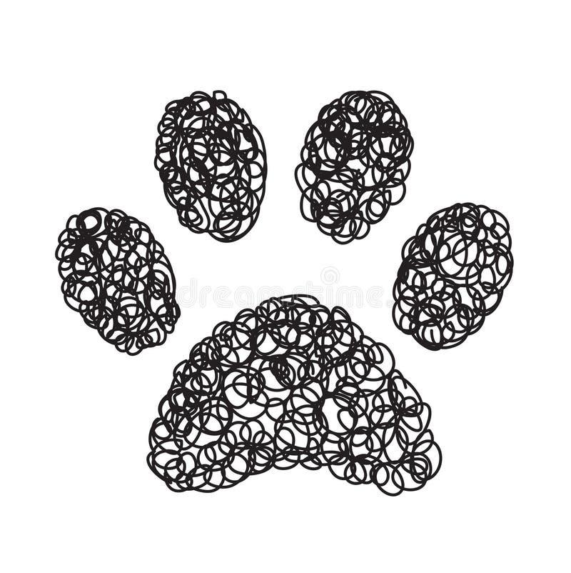 Handdrawn значок doodle лапки бесплатная иллюстрация