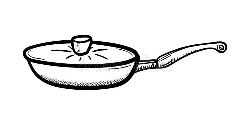 Handdrawn значок doodle лотка Эскиз нарисованный рукой черный символ знака Элемент украшения Белая предпосылка изолировано Плоски иллюстрация вектора
