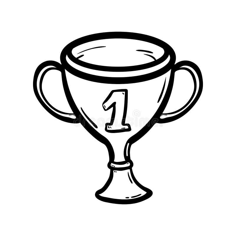 Handdrawn значок doodle чашки Эскиз руки вычерченный черный Символ знака r o o r бесплатная иллюстрация