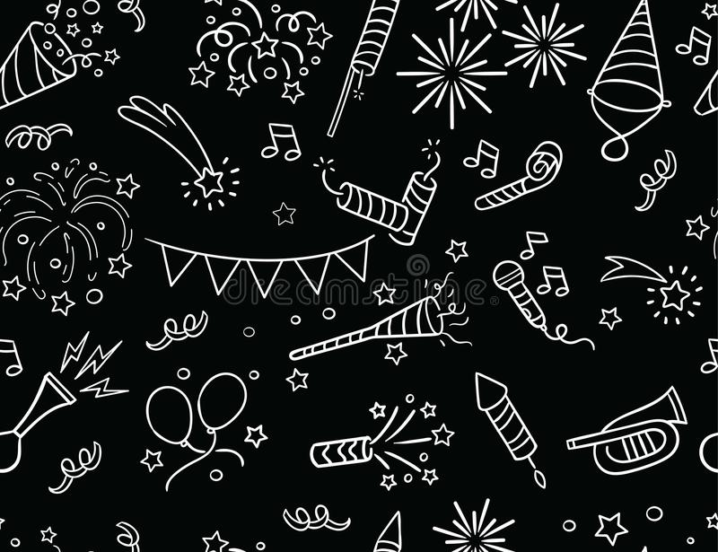 Handdrawn картина партии & торжества иллюстрация штока