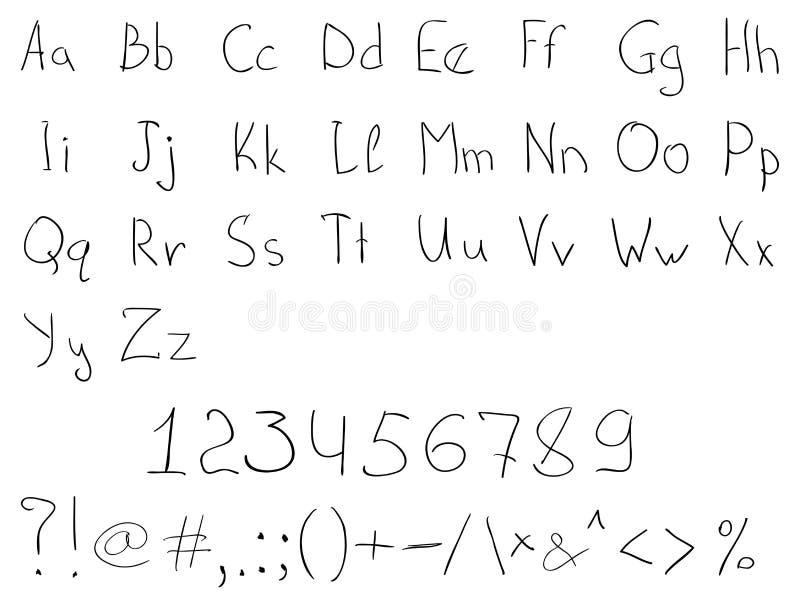 Download Handdrawn Alphabet stock vector. Image of case, kids - 34620829