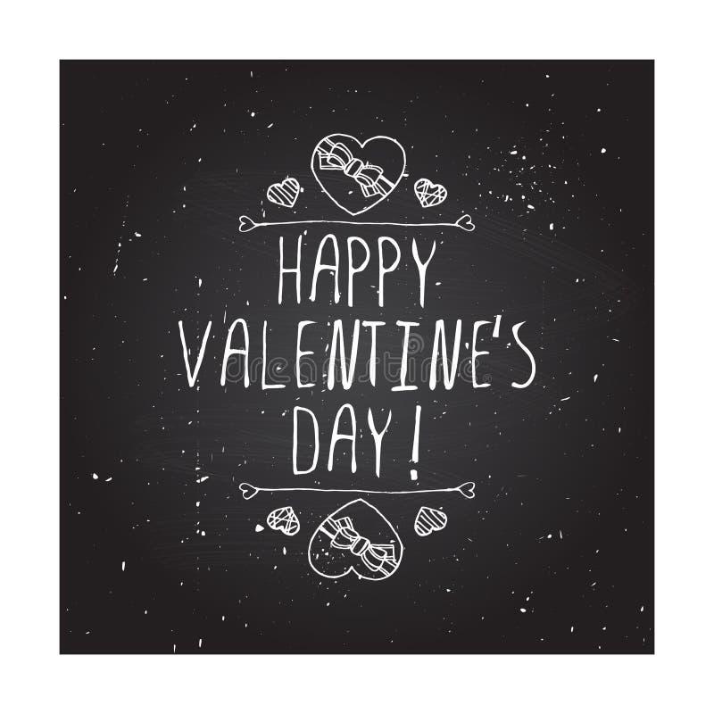 Handdrawn Ausweis des Vektors für Heilig-Valentinsgrußtag stock abbildung