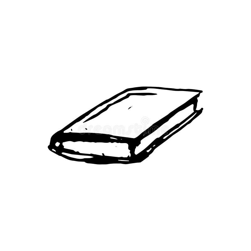 Handdrawn book doodle icon. Hand drawn black sketch. Sign symbol royalty free illustration