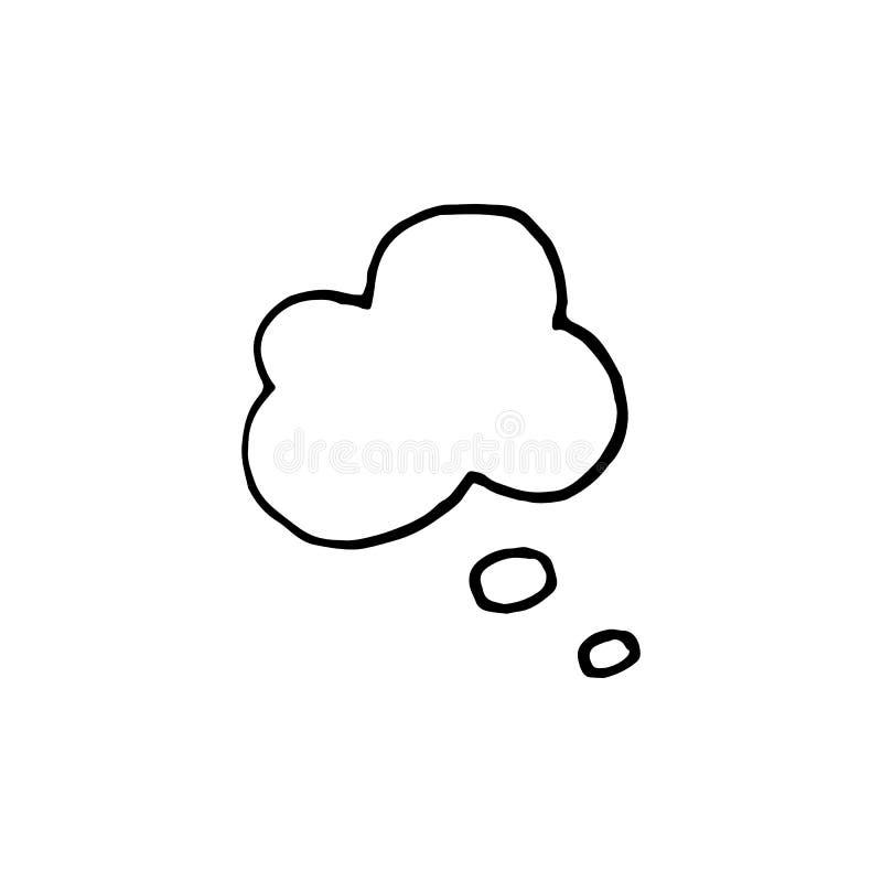 Handdrawn doodle chmury ikona Ręka rysujący czarny nakreślenie Szyldowy Symb ilustracji