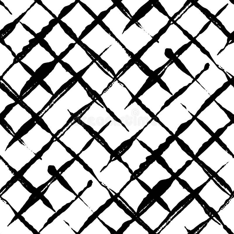In handdrawn geruit naadloos patroon vector illustratie