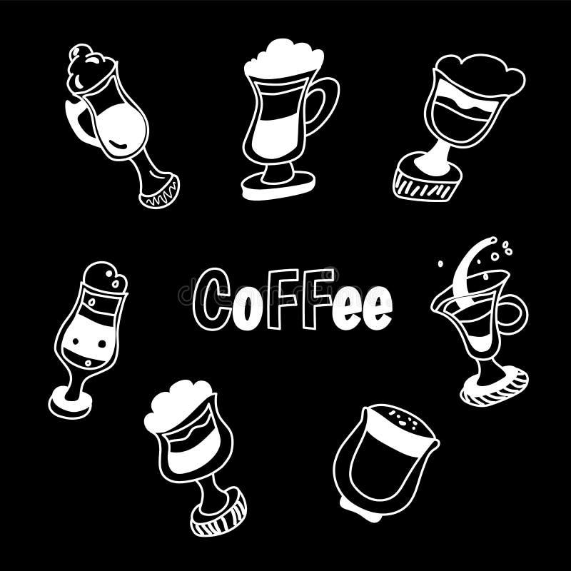 Handdrawn ilustracja kawa set ilustracja wektor