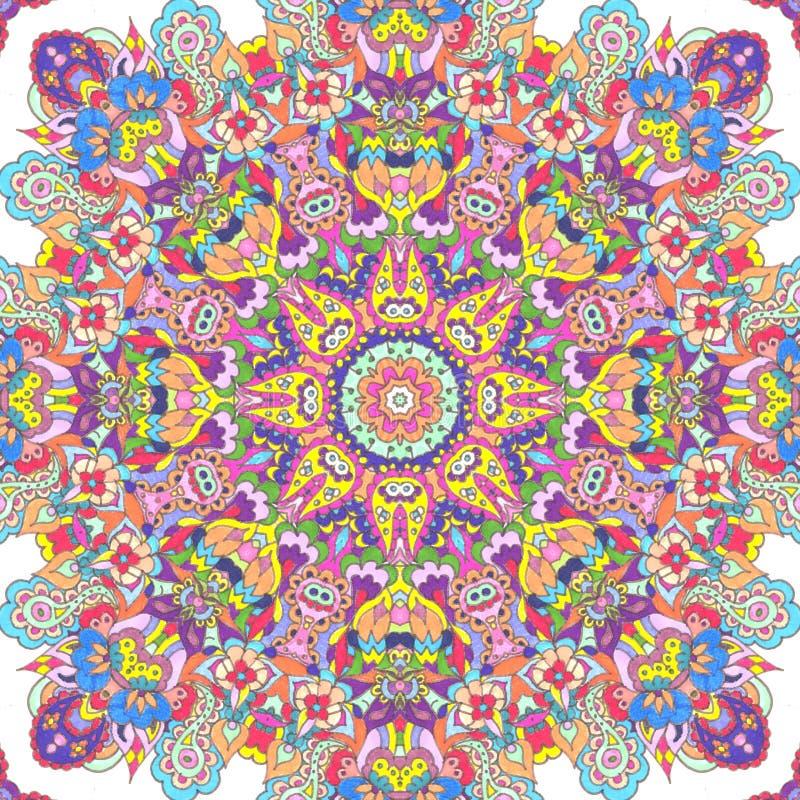 Handdrawn kaleidoscope  seamless