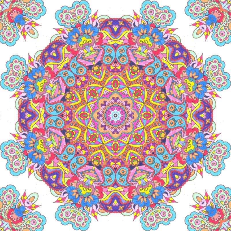 Download Handdrawn Kaleidoscope  Seamless Stock Illustration - Image: 33671663
