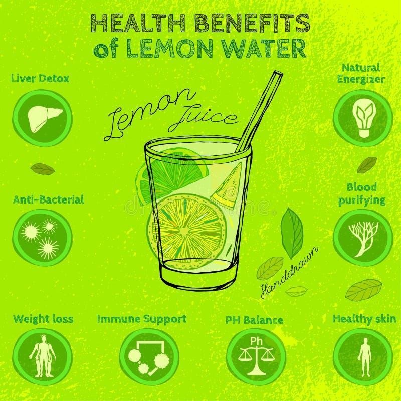 Handdrawn Lemon Infographic royalty free stock photography