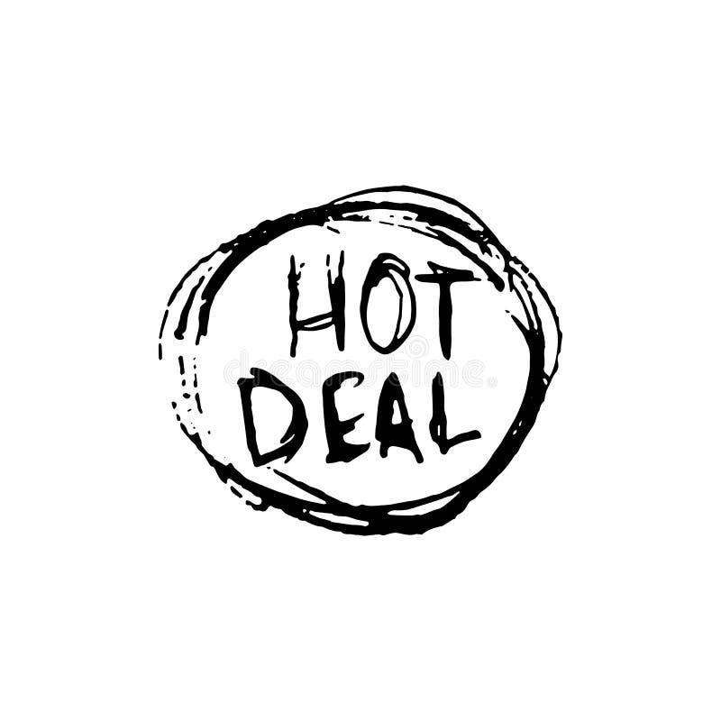 Handdrawn odznaki transakci doodle ikona Ręka rysujący czarny nakreślenie Znak royalty ilustracja