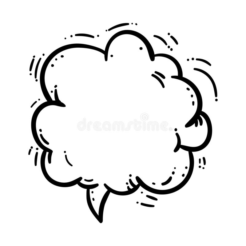 Handdrawn smoke cloud doodle icon. Hand drawn black sketch. Sign cartoon symbol. Decoration element. White background. Isolated. Flat design. Vector vector illustration