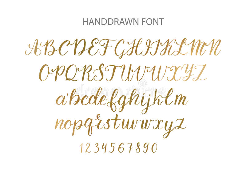 Download Handdrawn Vector Script Font Brush Style Textured Calligraphy Cursive Typeface Stock