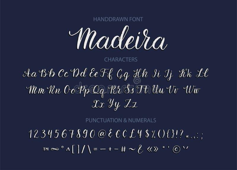 Handdrawn Vector Script font. Brush style textured calligraphy cursive typeface. Handwritten Script font. Hand drawn brush style modern calligraphy cursive vector illustration