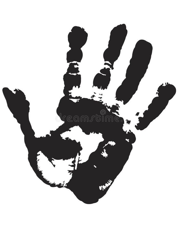 Handdruck vektor abbildung