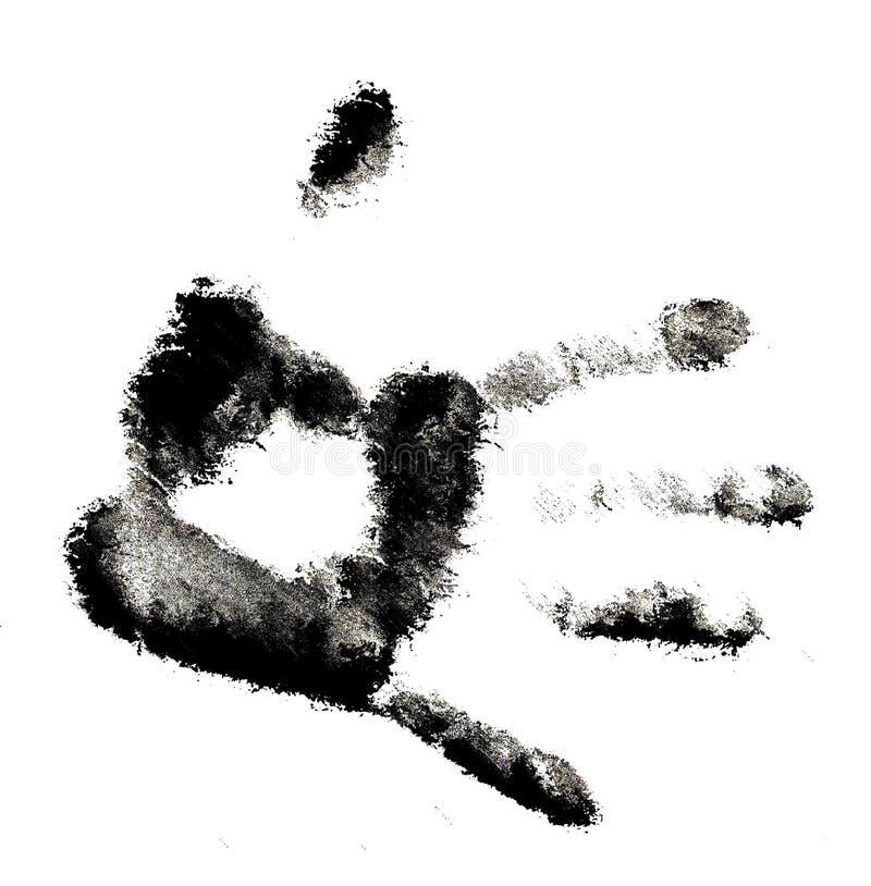 Handdruck lizenzfreie abbildung