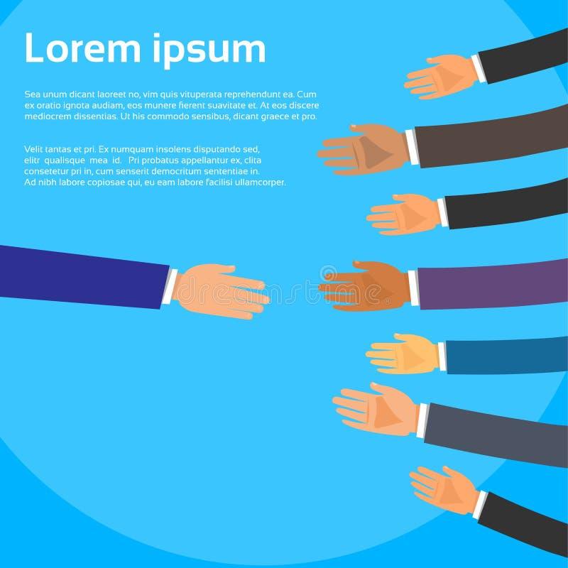 Handdruk Één Person Choose Partners Business vector illustratie