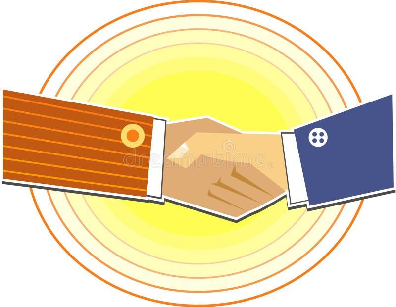 Download Handdruk vector illustratie. Afbeelding bestaande uit vennootschap - 45760