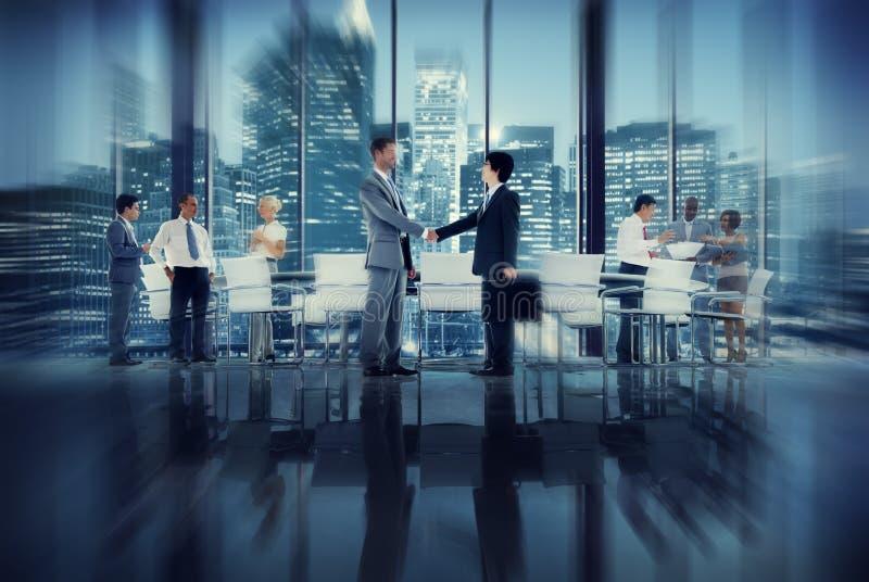 Handdruk Bedrijfsmensen Team Teamwork Meeting Conference Conce stock afbeeldingen