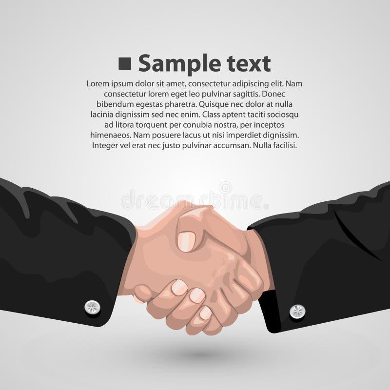 Handdruk bedrijfsovereenkomst vector illustratie