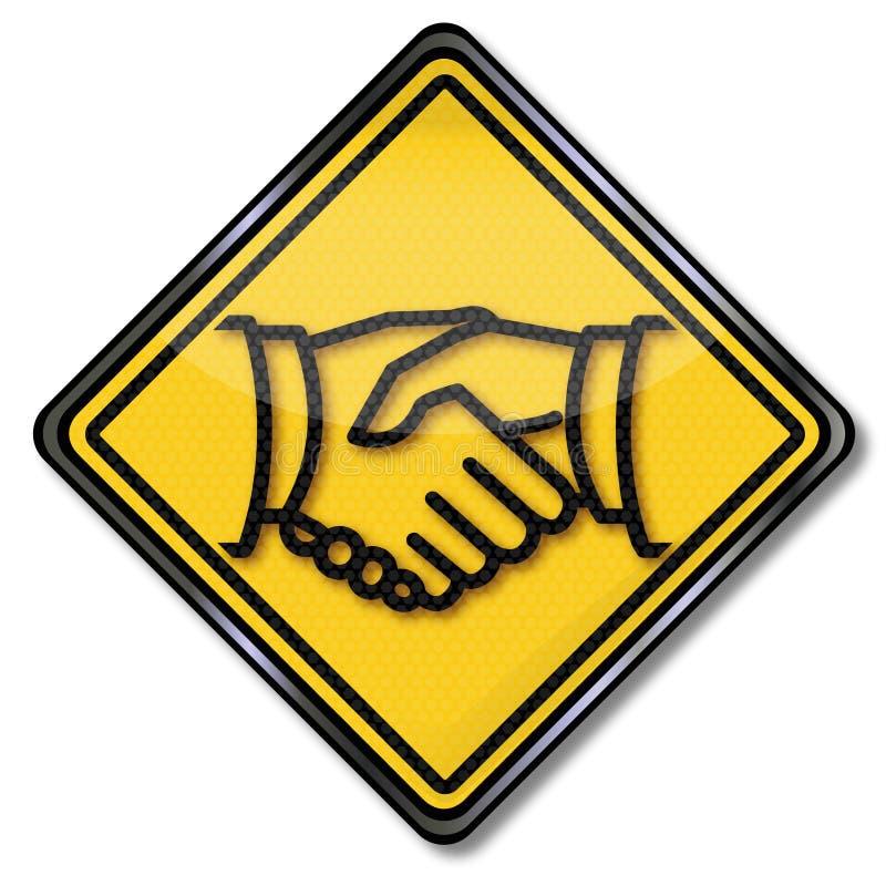 Handdruk en vriendschap vector illustratie