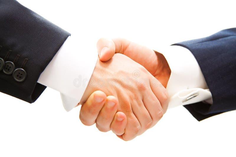 Handdruk van partner stock afbeelding