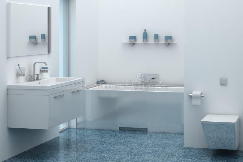 handduk för badrumbunkeinterior royaltyfria bilder