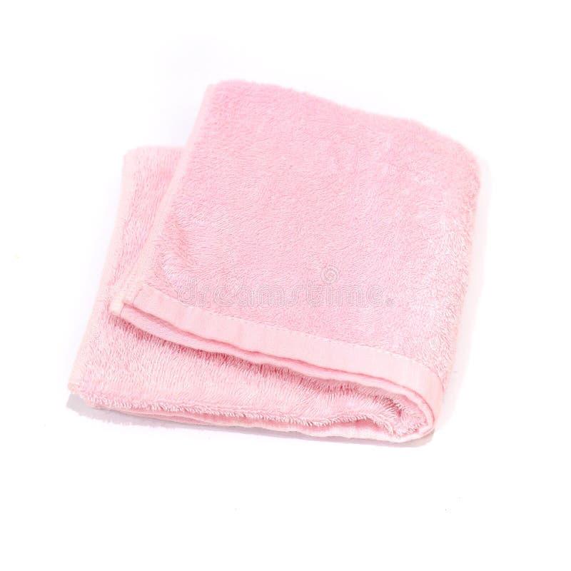 Handduk på vit bakgrund royaltyfri foto