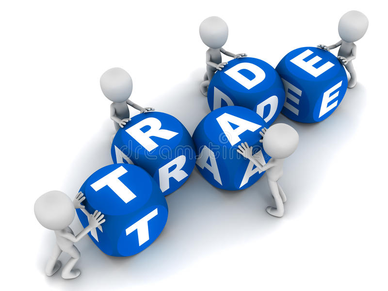 Handel lizenzfreie abbildung