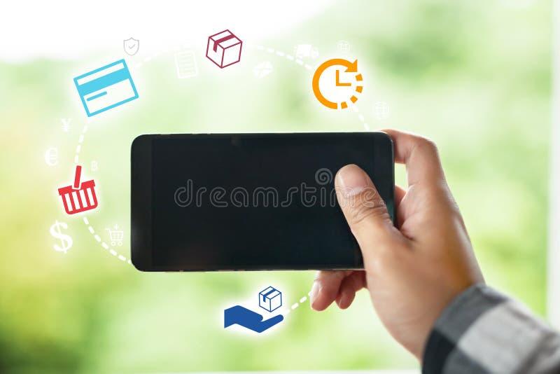 Download Handel Elektroniczny I Online Zakupy Pojęcie Obraz Stock - Obraz złożonej z ikona, handel: 106901121