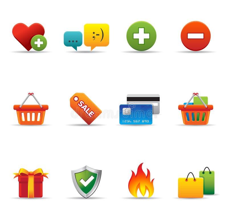 handel elektroniczny ikon sieć ilustracja wektor