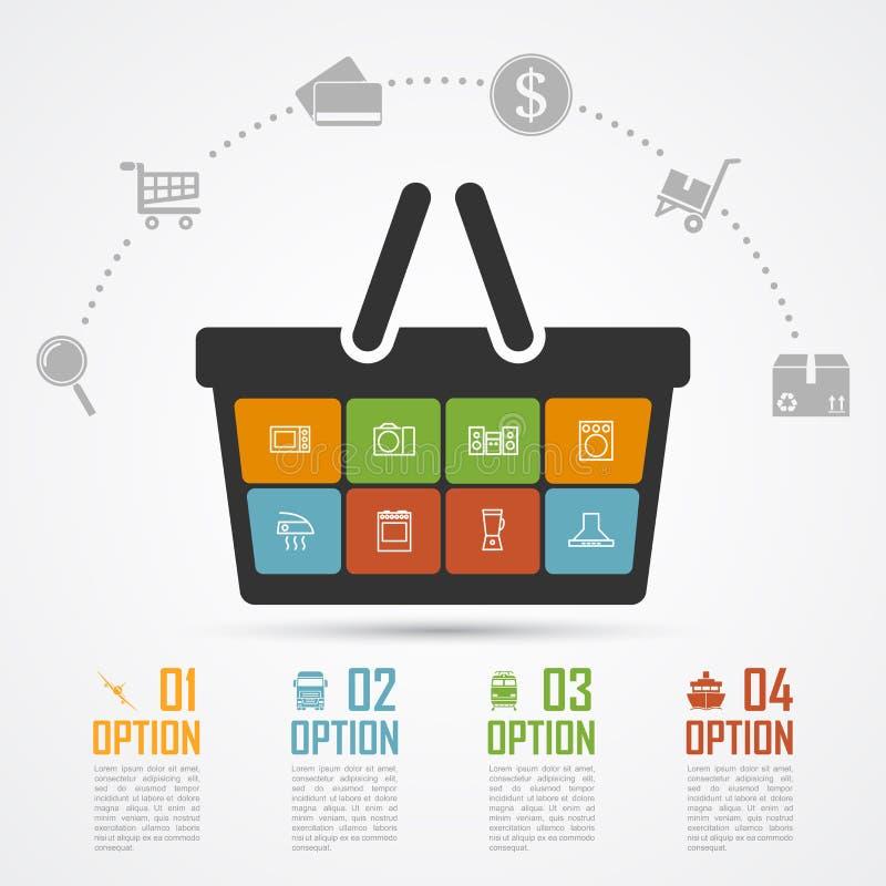 Handel elektroniczny infographic ilustracji