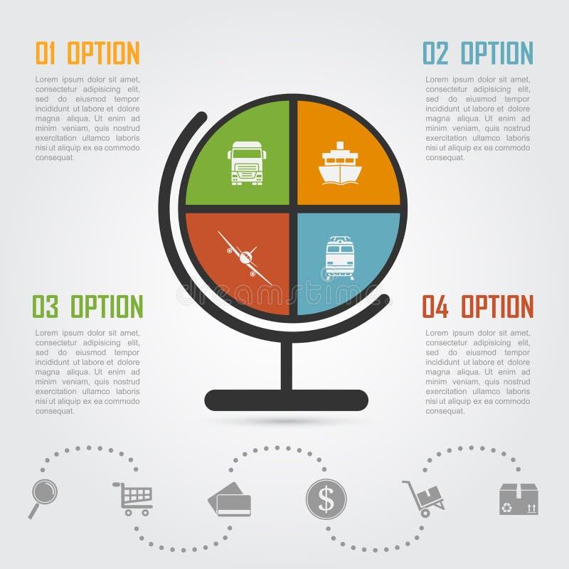 Handel elektroniczny infographic ilustracja wektor