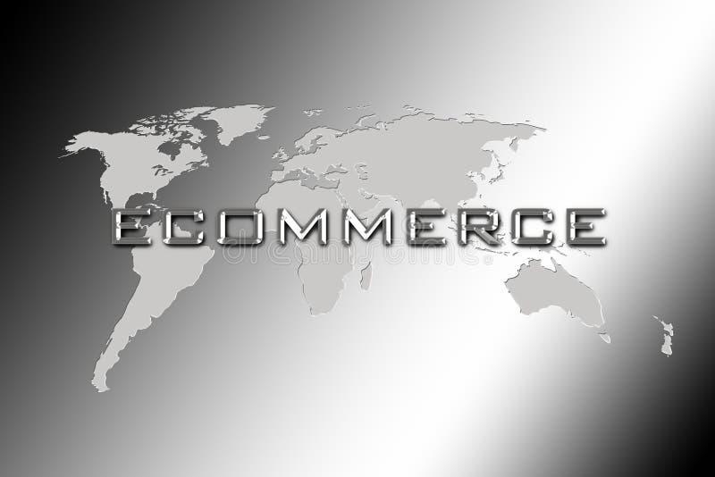 handel elektroniczny ordynacyjny świat ilustracja wektor