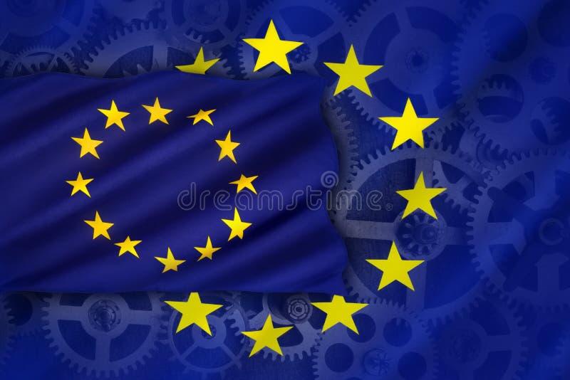 Handel en industrie - Europese Unie royalty-vrije stock fotografie