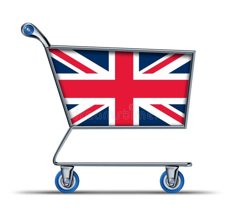 handel för överskott för shopp för britain underskottengland marknad royaltyfri illustrationer