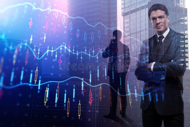 Handel, makelaar en investeringsconcept stock afbeeldingen