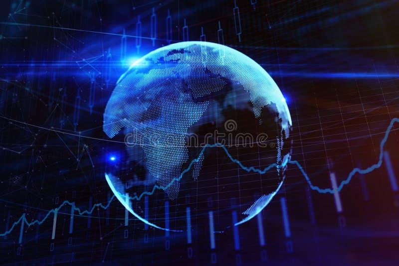 Handel- och investeringbegrepp vektor illustrationer