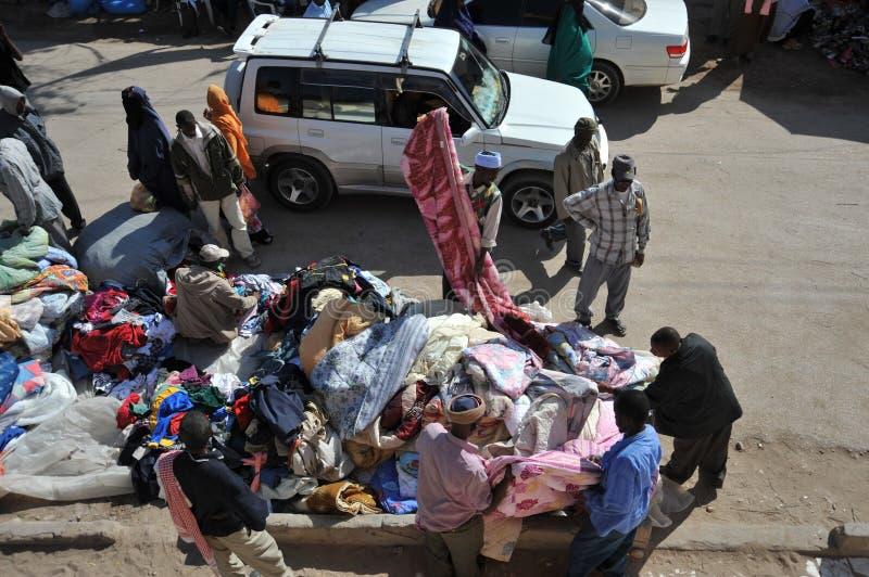 Handel op een stadsstraat Hargeisa royalty-vrije stock foto