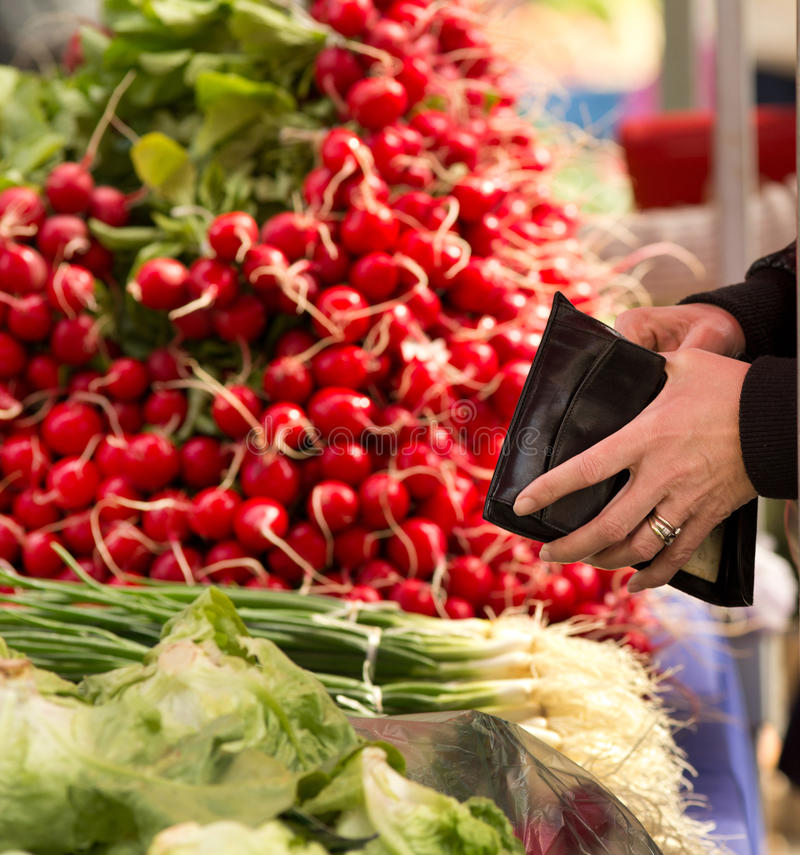 Handel på grön marknad royaltyfria foton